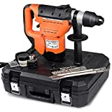 Goplus 1-1/2' SDS Drill, 1100W Electric Rotary Hammer, Plus Demolition Bits, Variable Speed, Orange