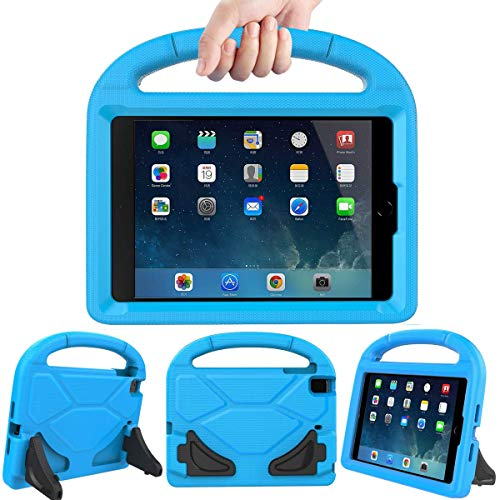 LEDNICEKER Kids Case for iPad Mini 1 2 3 4 5 - Light Weight Shock Proof Handle Friendly Convertible Stand Kids Case for iPad Mini, Mini 5 (2019), Mini 4, iPad Mini 3rd Generation, Mini 2 Tablet - Blue