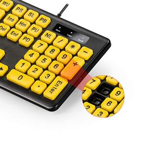 Large-Print-Computer-Keyboard-with-Yellow-Keys-and-Black-Letters-Wired-USB-Keyboards-for-Visually-Impaired-Low-Vision-Individuals