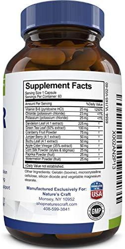 Water Away Diuretic Supplement with Dandelion Leaf – Bloat Relief Pills Weight Loss Relieve Swelling Water Retention – Natural Green Tea Extract Potassium Vitamin B6 for Men & Women 5