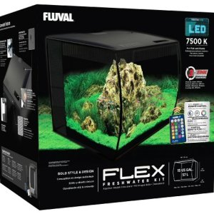 Hagen HG Fluval Flex Aquarium 57L, 15gal, Black 12