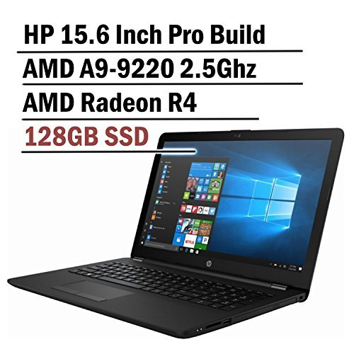 Hp 15.6 Inch HD Thin and Light Laptop (7th Gen AMD A6-9220 2.5Ghz APU, 4GB DDR4 Memory, 128GB SSD, Wireless AC, HDMI, Bluetooth, Windows 10)