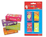 """""""Scented Erasers"""" Fruit Smelly Cool Erasers for Girls and Boys Pack of 4 Fun Erasers for Kids"""