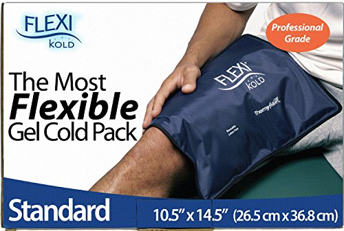 FlexiKold Gel Ice Pack (Standard Large: 10.5' x 14.5') - Reusable Cold Therapy Pack (For pain and injuries of Knee, Shoulder, Foot, Back, Ankle, Neck, Hip, Wrist) - 6300-COLD