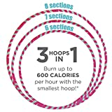 Empower Hula Hoop for Women Adjustable Size Fitness Hoop, Dance Hoop, Cardio, Fat Burning, 3-in-1 Hoola Hoop