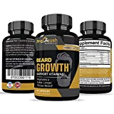 Beard Growth Support Supplement- Grow Fuller, Longer, Thicker, & Healthier Facial Beard & Mustache Hair. Natural Supplement Vitamin with Biotin for Men.
