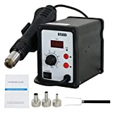 Smartxchoices 858D Hot Air Rework Station Digital SMD Soldering Station Kit Desoldering Welder W/Accessories (858D)