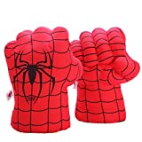 Fairzoo Spider-Man Gloves Smash Soft Plush Fists Pairs Costume Red and Black