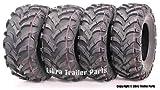 Wanda P341 ATV/UTV Tires 25 x 8-12 Front & 25 x 10-12 Rear, Set of 4 ...