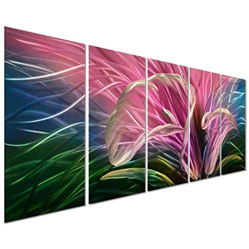 Metal Flower Wall Art -Floral Metal Home Wall Art Decor