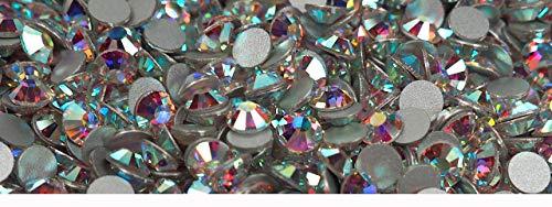 1440pcs ss12 (3mm) Crystal AB, Preciosa Genuine Czech Crystals new VIVA12 MC Chaton Rose Flatbacks Article 438-11-612, 12-Faceted Viva Machine Cut Rhinestone Roses, 12ss