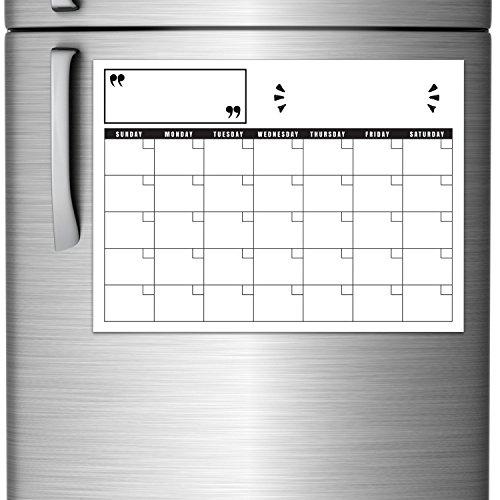 Blank Magnetic Calendar Refrigerator : Rembrandt magnetic monthly fridge calendar whiteboard