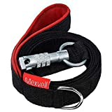 Dog Leash with Unbreakable Carabiner by Mexvell - Perfect for Large, Medium and Strong Small Dogs - Extra Heavy Duty and Durable - Padded Handle - Black, 6 ft Long, Thick 3mm Nylon, 1 Inch Wide