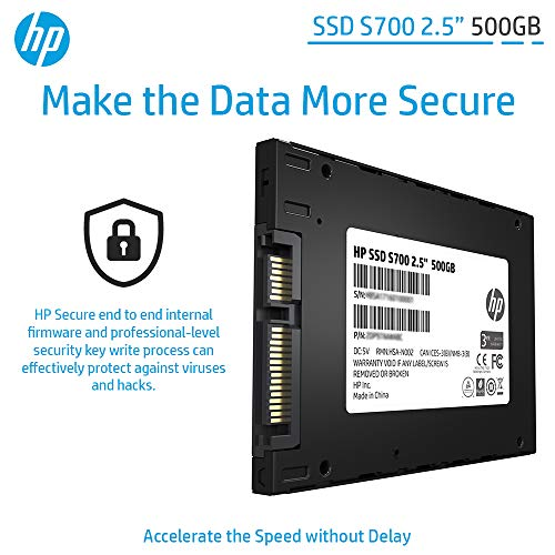 "HP SSD S700 2.5"" 500GB SATA III 3D NAND Internal Solid State Drive (SSD) 2DP99AA#ABC 5"