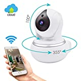 Wireless IP Security Camera, GERI WIFI Surveillance indoor camera baby room vision Pan/Tilt/Zoom System 720p HD Night Vision Cloud Service Available