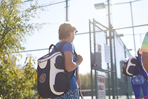 Amazin' Aces Premium Pickleball Backpack | Bag Features Pickleball Holder/Sleeve | Pack Fits Multiple Paddles | Convenient Pockets for Phone, Keys, Wallet | Padded Back & Straps for Added Comfort