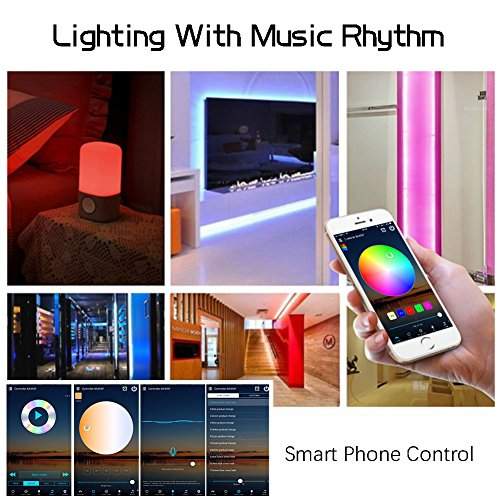 Litake LED Strip Lights, Wifi Wireless Smart Phone APP Controlled Light  Strip Kit 32 8ft 300 Leds 5050 Waterproof IP65 LED Lights, Working with