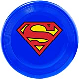 "Buckle-Down Dog Toy Frisbee Flyer Superman Shield Blue, 9"" x 9"", Multicolor"