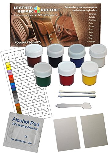 Leather Repair Doctor Complete DIY Kit | Premixed Glue & Paint ALL-IN-ONE Professional Restoration Solution | Match ANY Color, No-Heat | Sofa, Couch Chairs, Car Seats, Jacket, Boots, Belts, Purses