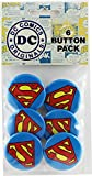 "Button set DC Comics Originals Superman Logo 6 Individual Loose Buttons, 1.25"", White"