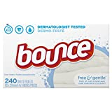 Bounce Fabric Softener Sheets, Free & Gentle, 240 Count
