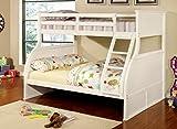 Furniture of America Brenna Twin-Full Bunk Bed, White