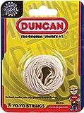 Duncan Yo-Yo String [White] - Pack of 5 Cotton String for Plastic, Metal Yo-Yos
