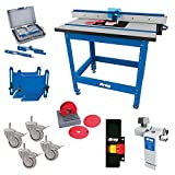 Kreg PRS1045 (KRS1035, PRS1025, PRS1015) Router Table with PRS3090 Caster, PRS3020 True-Flex, PRS3100 Router Table Switch, PRS3400 Set-Up Bars, and KRS7850 Router Table Stop