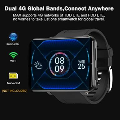 TICWRIS-Andriod-Smart-Watch-GPS-Android-Smartwatch-4G-LTE-with-286-Touch-Screen-Face-Unclok-Phone-Watch-with-2880mAh-Battery-IP67-Waterproof-Sport-Watch3GB32GB-Andriod-Watch-for-Men