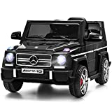 Costzon Kids Ride On Car, Licensed Mercedes Benz G65, 12V Battery Powered Electric Vehicle, Parental Remote Control & Manual Modes, Music, Horn, LED Headlights, USB MP3 Functions, Black