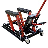 VIVOHOME Steel Hydraulic Motorcycle ATV Lift Jack Hoist Stand 1500Lb