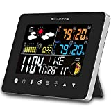 SMARTRO SC62 Wireless Indoor Outdoor Thermometer, Weather Station Color Large Display, Room Hygrometer Temperature and Humidity Monitor Gauge
