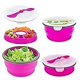 Smart Planet Eco Collapsible Salad Bowl, 65 oz, Green