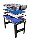 IFOYO 4 in 1 Multi Game Table for Kids, 31.5 Inch Steady Combo Game Table, Soccer Foosball Table, Hockey Table, Pool Table, Table Tennis Table, Christams Gift for Kids