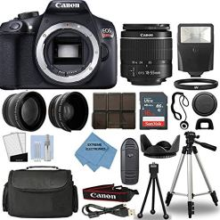 Canon-Rebel-T6-DSLR-Camera-18-55mm-3-Lens-Kit-16GB-Top-Value-Bundle-2X-Telephoto-Lens-Wide-Angle-Lens-3-Piece-Filter-Kit-Tripod-Lens-Hood-Flash-Extreme-Electronics-Cloth-More
