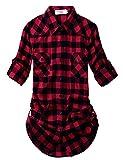 Match Women's Long Sleeve Plaid Flannel Shirt #2021 (Medium, 2021 Checks#1)