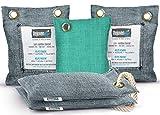 Bamboo Charcoal Air Purifying Bag (5 Pack - 200g, 50g, 75g), Natural Air Freshener Bags, Activated Charcoal Odor Eliminators, Car Air Freshener, Closet Air Purifier, Home Air Freshener, Charcoal Bags