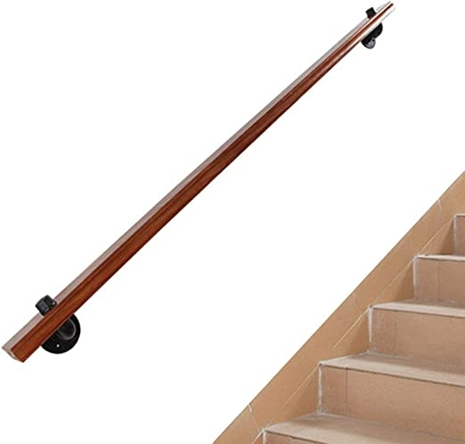 Amazon Com Wood Wall Mounted Stair Handrail Banister Complete Kit | Wall Mounted Handrails Wood | Stair Handrail Bracket | Capozzoli Stairworks | Stair Parts | Wood Staircase Handrail | Wrought Iron