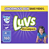 Luvs Ultra Leakguards Disposable Baby Diapers Size 4, 160 Count