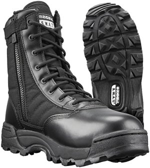 Original SWAT Classic 9in. Side Zip Tactical Boots, Black, Size 09.5