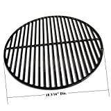 Hongso 18.5' Cast Iron Grill Grates Replacement for Large Big Green Egg, BGE, Vision Grill VGKSS-CC2, B-11N1A1-Y2A Accessories, Other Kamado Grill. PCI991