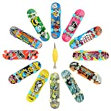 Hometall 12 PCS Professional Mini Fingerboards Finger Skateboard(12 PCS)