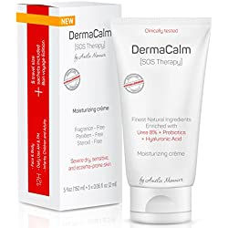 Clinically Tested Cream for Eczema Treatment, Dermatitis and Psoriasis - Urea 8%, Probiotics w/Best Natural Ingredients - Face & Body Moisturizer - Repairs Severely Dry, Itchy, Scaly Skin. Lotion