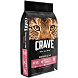 Crave Grain Free With Protein From Chicken & Salmon Dry Indoor Adult Cat Food, 10 Pound Bag
