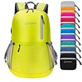 ZOMAKE Ultra Lightweight Travel Backpack - Durable Packable Water Resistant Backpack Small Daypack for Women Men(Yellow)