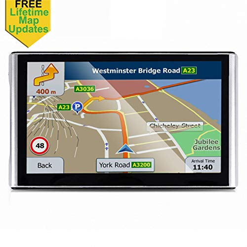 7 inches Car GPS, 8GB Navigation System for Cars Lifetime Map Updates Touch Screen Real Voice Direction Vehicle GPS Navigator