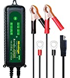 Mroinge MBC035 6V and 12V 3.5A Smart Vehicle Battery Charger/Maintainer for Cars, Motorcycles, RVs, TVs, Powersports, Boat and More Vehicle GEL WET AGM Batteries, With IP65 Waterproof