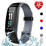 Qiufeng Fitness Tracker,Activity Tracker Smart Watch Health Bracelet Waterproof Wristband with Heart Rate Blood Pressure Pedometer Sleep Monitor Calorie Step Counter for Android and iOS (Gray)