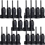 Retevis RT21 2 Way Radios UHF Long Range Scrambler 16CH CTCSS/DCS VOX Scan Squelch Rechargeable Walkie Talkies(20 Pack)