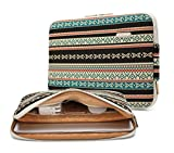 KAYOND 17 Inch Laptop Sleeve-Bohemian Canvas Water-Resistant Case Bag(17 inches, New Bohemian)